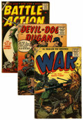 Golden Age (1938-1955):War, Miscellaneous Golden Age War Group (Various Publishers, 1954-58)Condition: Average GD/VG.... (Total: 16 Comic Books)