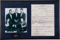 Music Memorabilia:Autographs and Signed Items, Marcels Signed Contract for Dick Clark's American Bandstand(1961)....