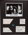 Music Memorabilia:Autographs and Signed Items, Joan Jett & The Blackhearts Autograph Display,...