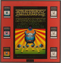 Music Memorabilia:Posters, Iron Butterfly Fillmore West Concert Poster and Ticket Group BG-141(Bill Graham, 1968)....