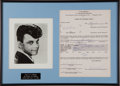 Music Memorabilia:Autographs and Signed Items, Gary U. S. Bonds Signed American Bandstand Contract Display(1961)....