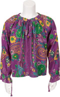 Music Memorabilia:Costumes, Jimi Hendrix Owned Floral Shirt....