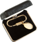Movie/TV Memorabilia:Memorabilia, Frank Sinatra Gold Key Chain Given to Ed Wynigear....