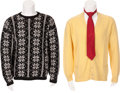 Movie/TV Memorabilia:Costumes, Glenn Ford's Sweaters and Tie.... (Total: 4 )