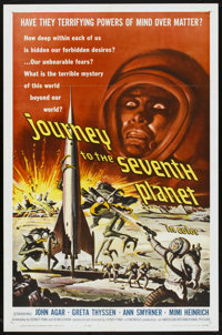 """Journey to the Seventh Planet (American International, 1961). One Sheet (27"""" X 41""""). Science Fiction"""