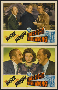 """That's Right - You're Wrong (RKO, 1939). Lobby Cards (2) (11"""" X 14""""). Musical. ... (Total: 2 Items)"""