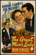 """Movie Posters:Romance, The Great Man's Lady (Paramount, 1941). One Sheet (27"""" X 41"""").Romance.. ..."""