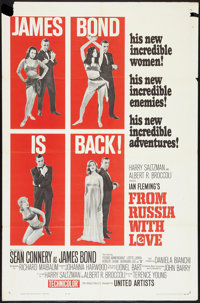 """From Russia with Love (United Artists, 1964). One Sheet (27"""" X 41""""). Style B. James Bond"""