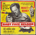 "Movie Posters:Crime, Baby Face Nelson (United Artists, 1957). Six Sheet (81"" X 81""). Crime.. ..."