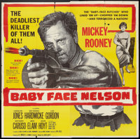 "Baby Face Nelson (United Artists, 1957). Six Sheet (81"" X 81""). Crime"