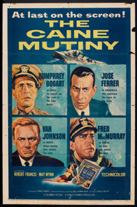 "The Caine Mutiny (Columbia, 1954). One Sheet (27"" X 41""). War"