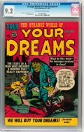 Golden Age (1938-1955):Science Fiction, Strange World of Your Dreams #4 (Prize, 1953) CGC NM- 9.2 Off-whiteto white pages....