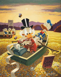 Carl Barks Only a Poor Old Duck Painting Original Art (1974)