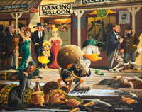 Carl Barks Nobody's Spending Fool Painting Original Art (1974)