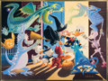 Original Comic Art:Miscellaneous, Carl Barks Halloween in Duckburg Limited Edition Gold PlateArt Print 1/100 (Another Rainbow, 1992).... (Total: 2 Items)