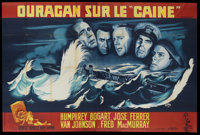 "The Caine Mutiny (Columbia, 1954). French Double Grande (63"" X 94.5""). War"