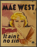 "Movie Posters:Comedy, Belle of the Nineties (It Ain't No Sin) (Paramount, 1934). WindowCard (14"" X 17.5""). Comedy.. ..."
