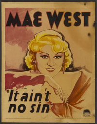 "Belle of the Nineties (It Ain't No Sin) (Paramount, 1934). Window Card (14"" X 17.5""). Comedy"