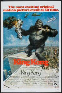 "King Kong (Paramount, 1976). One Sheet (27"" X 41""). Flat Folded. Horror"