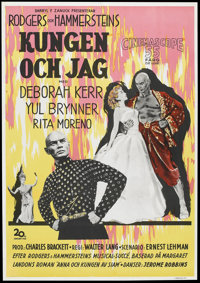"""The King and I (20th Century Fox, 1956). Swedish One Sheet (27.5"""" X 39.5""""). Musical"""