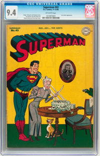 Superman #43 (DC, 1946) CGC NM 9.4 Off-white pages