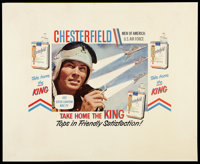"""Chesterfield Cigarettes - Dean Fredericks as Steve Canyon (1958). Poster (34.5"""" X 40""""). Miscellaneous"""