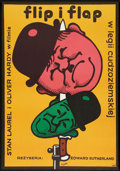 """Movie Posters:Comedy, The Flying Deuces (CWF, R-1975). Polish One Sheet (22.5"""" X 32"""").Comedy.. ..."""