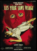 "Movie Posters:Horror, Eyes Without a Face (Lux Compagnie Cinématographique de France, 1960). French Grande (47"" X 63""). Horror.. ..."