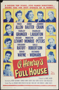 """Movie Posters:Drama, O. Henry's Full House (20th Century Fox, 1952). One Sheet (27"""" X41"""") and Pressbook (Multiple Pages, 11"""" X 15.25""""). Drama.. ...(Total: 2 Items)"""