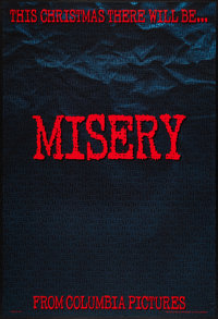 "Misery (Columbia, 1990). One Sheets (2) (27"" X 40""). Advance and Regular Styles. Thriller. ... (Total: 2 Items..."