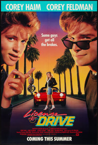 "License to Drive (20th Century Fox, 1988). One Sheet (27"" X 41""), Lobby Card Set of 8 (11' X 14""), and Ad..."