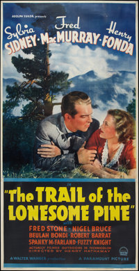 """The Trail of the Lonesome Pine (Paramount, 1936). Three Sheet (41"""" X 81""""). Drama"""