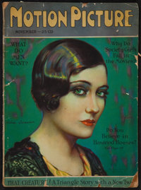 "Motion Picture Magazine (M.P. Publishing Co., Nov, 1926). Magazine (126 Pages, 8.75"" X 11.5). Miscellaneous"