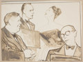 Fine Art - Work on Paper:Drawing, THE COLLECTION OF PAUL GREGORY AND JANET GAYNOR. WILLIAM M.AUERBACH-LEVY (American, 1889-1964). The First Quartette...
