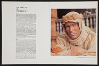 """Lawrence of Arabia Lot (Columbia, 1962). Souvenir Programs (5) (Multiple Pages, 9"""" X 12""""). Academy Award Winne..."""