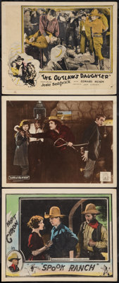 """Spook Ranch Lot (Universal, 1925). Lobby Cards (3) (11"""" X 14""""). Western. ... (Total: 3 Items)"""