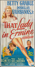 """Movie Posters:Musical, That Lady In Ermine (20th Century Fox, 1948). Three Sheet (41"""" X81""""). Musical.. ..."""