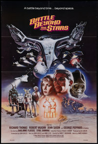 "Battle Beyond the Stars (New World, 1980). Autographed One Sheet (26.5"" X 39""). Science Fiction"