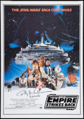"Movie Posters:Science Fiction, The Empire Strikes Back (Zig Zag, R-1996). Autographed CommercialOne Sheet (27""25 X 39""). Science Fiction.. ..."