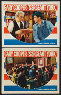 "Movie Posters:War, Sergeant York (Warner Brothers, 1941). Lobby Cards (2) (11"" X 14"").War.. ... (Total: 2 Items)"