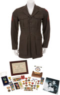 Movie/TV Memorabilia:Costumes, Glenn Ford's Marine Corps Uniform with Medals and Citations....(Total: 4 )