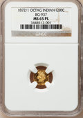 California Fractional Gold, 1872/1 50C Indian Octagonal 50 Cents, BG-937, High R.4, MS65Prooflike NGC....
