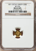 California Fractional Gold, 1871 50C Liberty Octagonal 50 Cents, BG-924, R.3, MS63 Deep MirrorProoflike NGC....