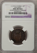 (1670-75) FARTH St. Patrick Farthing, New Jersey--Environmental Damage--NGC Details. Fine. NGC Census: (6/23). PCGS Popu...
