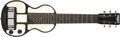 Musical Instruments:Lap Steel Guitars, Early 1940s Rickenbacker B Black with White Panels Lap SteelGuitar, #C3632. ...