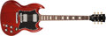 Musical Instruments:Electric Guitars, 2005 Gibson SG Cherry Solid Body Electric Guitar, #1105472. ...