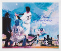 "Baseball Collectibles:Others, Bobby Thomson ""The Shot Heard Round the World"" SignedLithograph...."