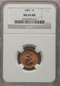 Indian Cents: , 1885 1C MS64 Red and Brown NGC. NGC Census: (204/184). PCGSPopulation (145/62). Mintage: 11,765,384. Numismedia Wsl. Price...