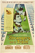 "Movie Posters:Hitchcock, Strangers on a Train (Warner Brothers, 1951). Poster (40"" X 60"").Style Y.. ..."