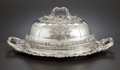 Silver Holloware, British:Holloware, A GEORGE IV SILVER SERVING PLATTER WITH DOME . Edward Farrell,London, England, circa 1820-1821. Marks: (lion passant), (leo...(Total: 2 Items Items)